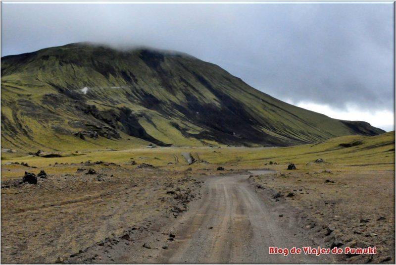 Paisaje camino a Landmannalaugar, Islandia