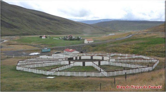 Rettir, o corral del ganado en Islandia