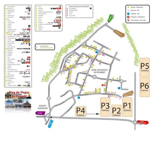 Mapa de las Carpas de Hossegor