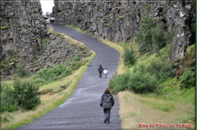 Falla en Pingvellir, Islandia