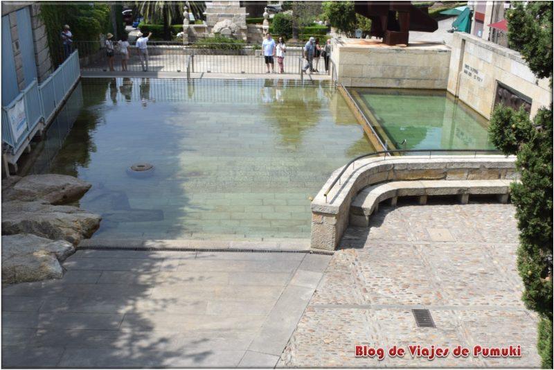 As Burgas, Baños públicos en la ciudad de Orense
