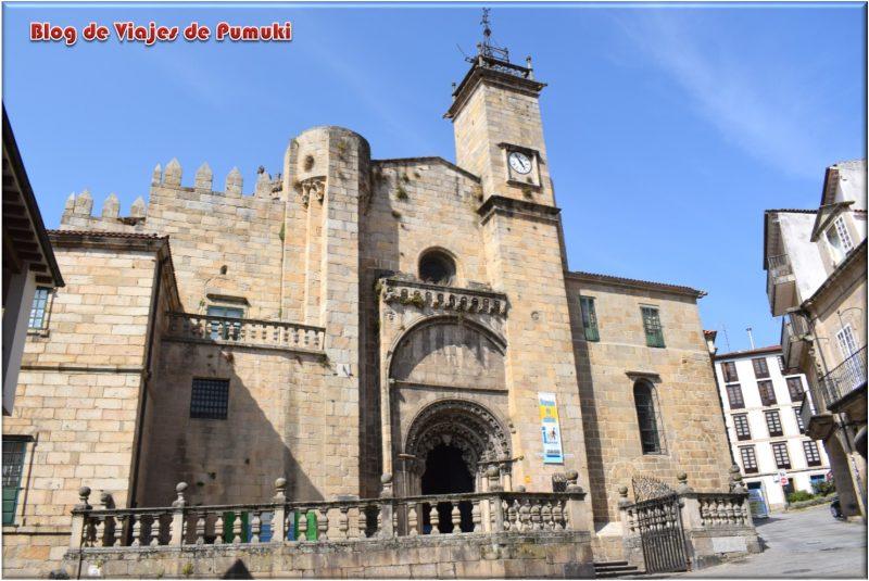 Fachada de la Catedral de Orense vista desde la plaza del Trigo