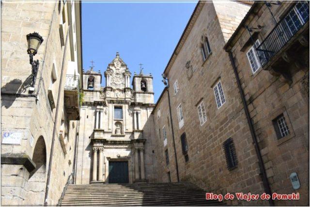Fachada de la Iglesia de Santa Maria Nai en Ourense. Cerca de la Plaza Mayor