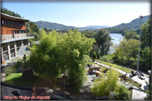 Termas privadas de Outariz junto al rio Miño en Ourense