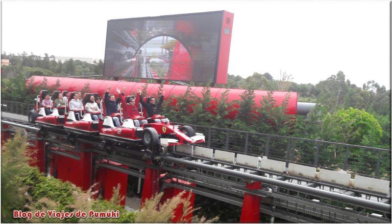 Tren de Red Force acelerando hasta a180Km/h
