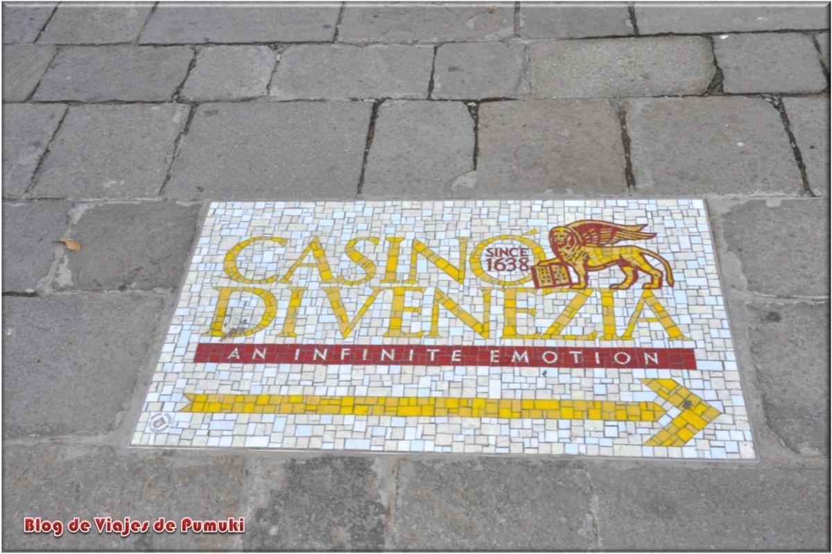 Indicaciones para el Casino de Veneceia