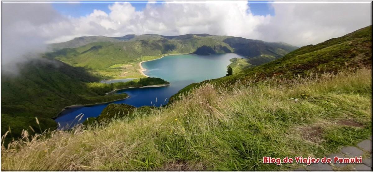 Lago de Fuego en San Miguel, Islas Azores
