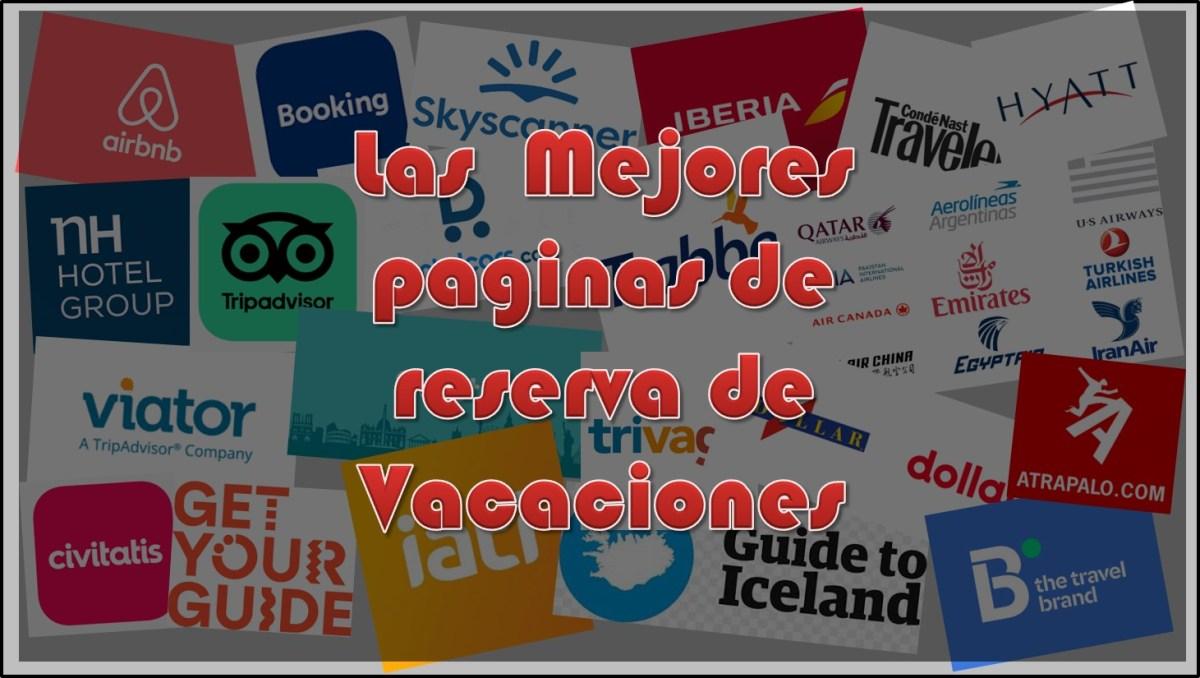Páginas para reservar vacaciones