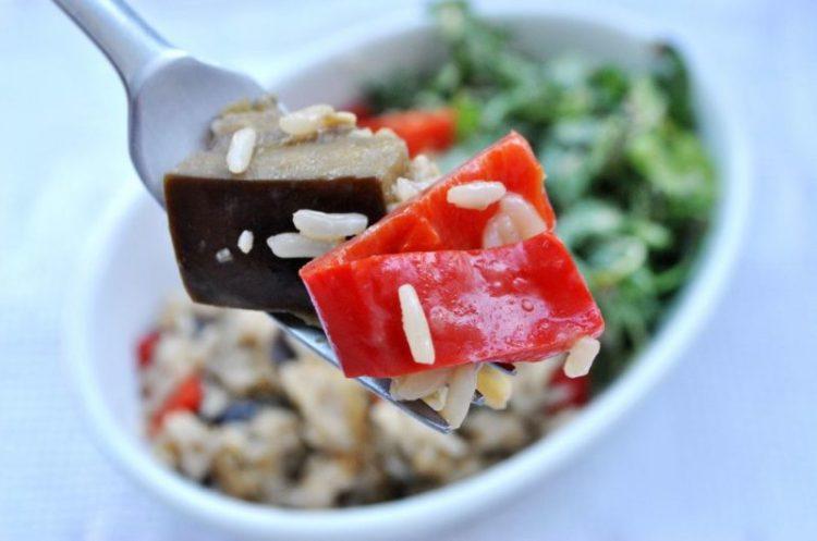 Kremowe risotto z bakłażanem