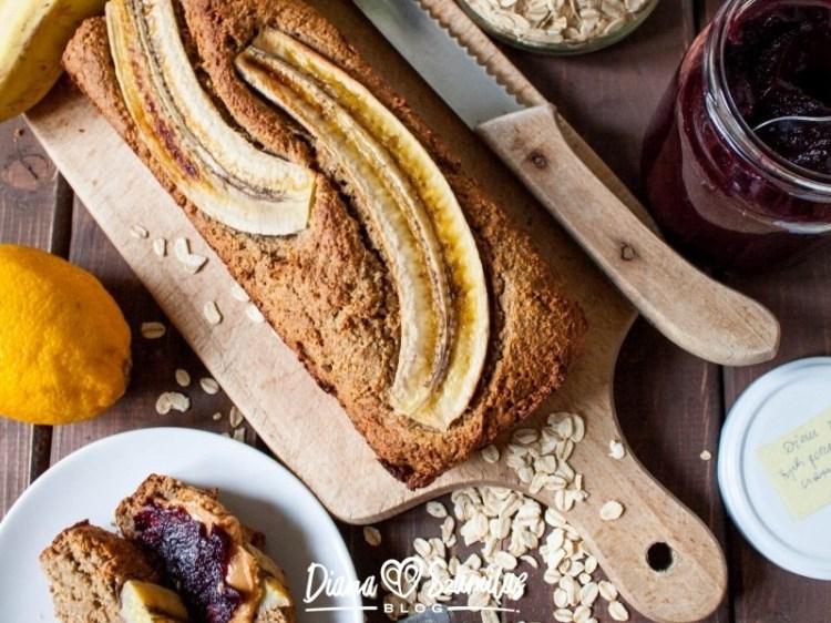 Owsiany chlebek bananowy - najprostszy