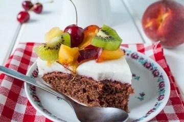 ciasto czekoladowe z galaretką
