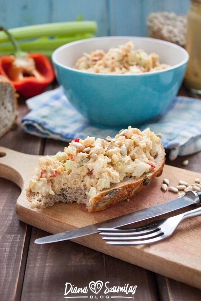 sałatka a'la tuńczykowa z cieciorki