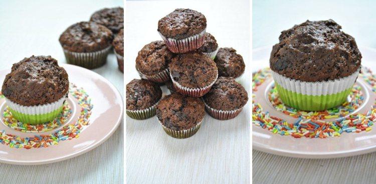 Cudownie proste muffiny czekoladowo-malinowe