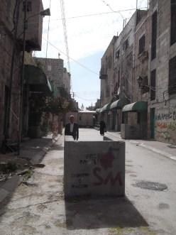 Check point, entrée d'Al Shuhada street