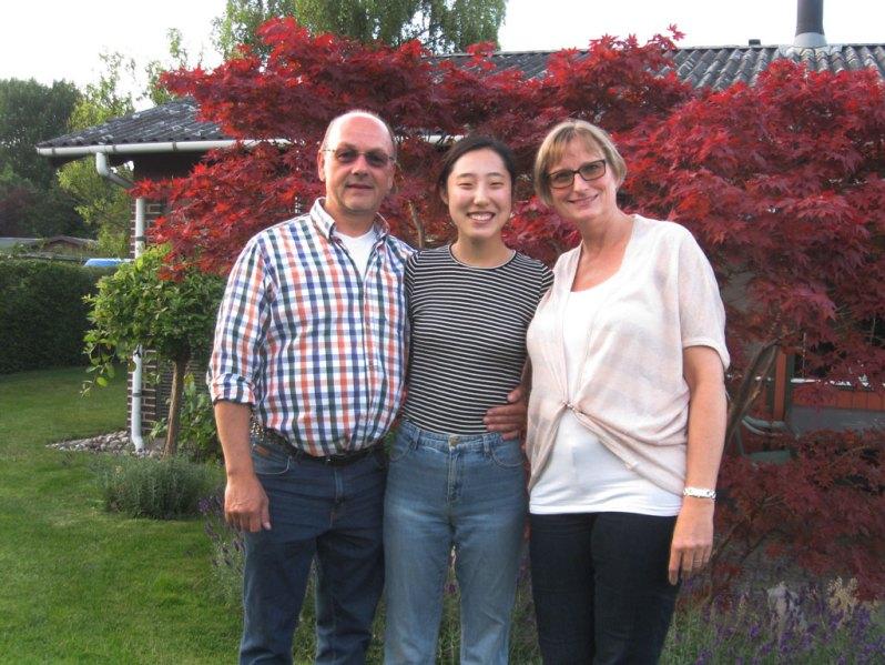 Per og Marianne fra Glostrup med en af deres studerende