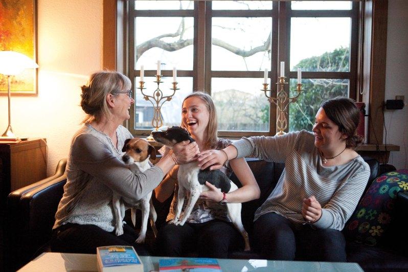 hjemlig hygge med hunde