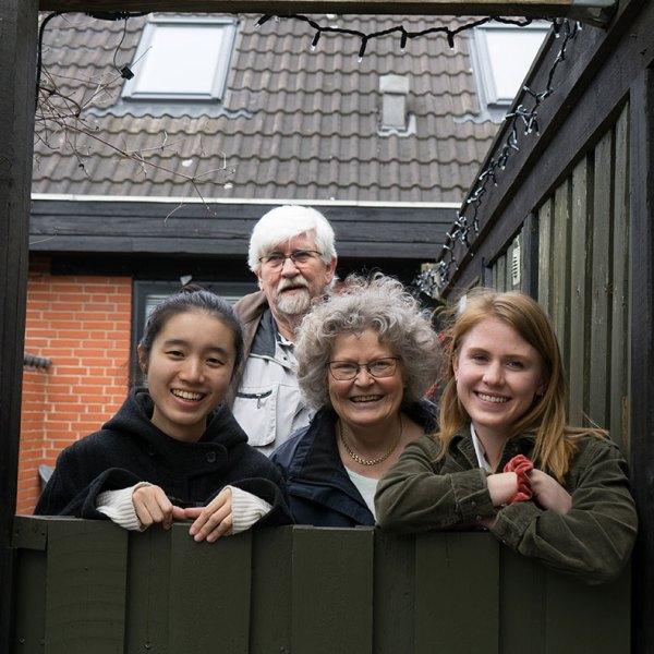 Værtsfamilien Schou bor i Vallensbæk