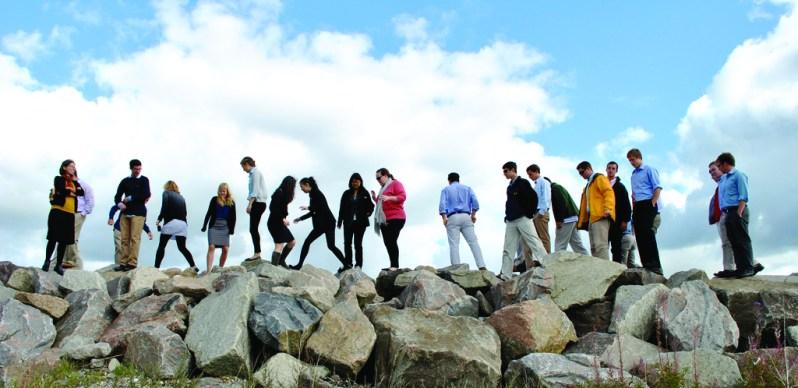 studerende fra dis på udflugt