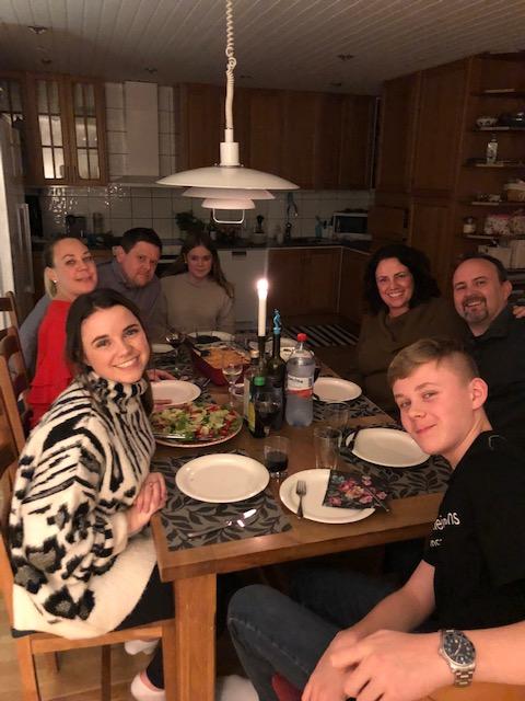 Emma med värdfamilj