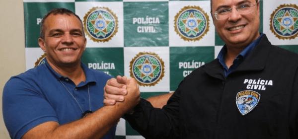 Secretário de Polícia Civil, Marcus Braga, e o governador do Rio Wilson Witzel