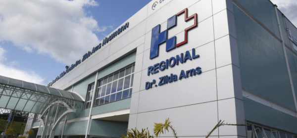 Fachada do Hospital Regional Zilda Arns