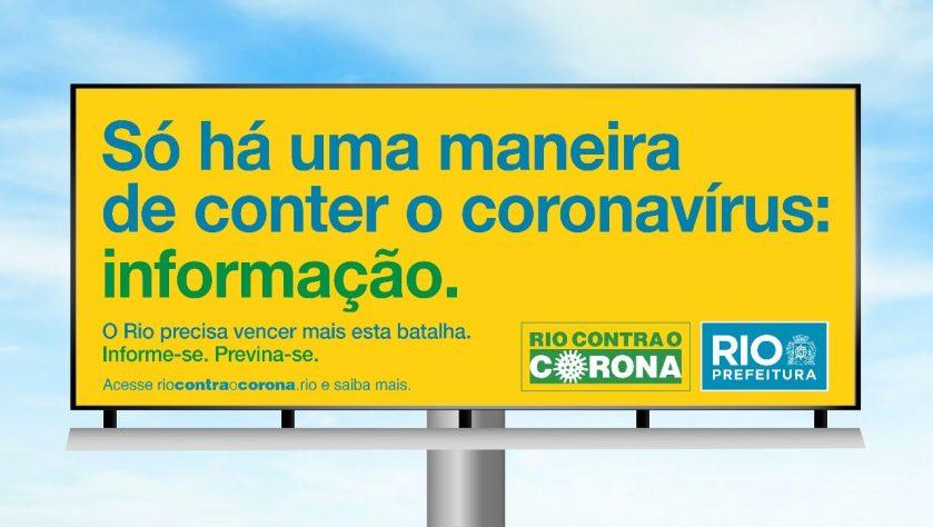 Outdoor da prefeitura do Rio: desperdício de dinheiro com aventais hospitalares passa de R$ 5 milhões