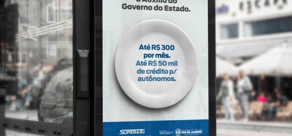 Supera Rio: estado vai gastar R$ 25 milhões com propaganda do auxílio