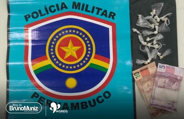 Adolescente suspeito por tráfico de drogas é detido em Santa Cruz do Capibaribe