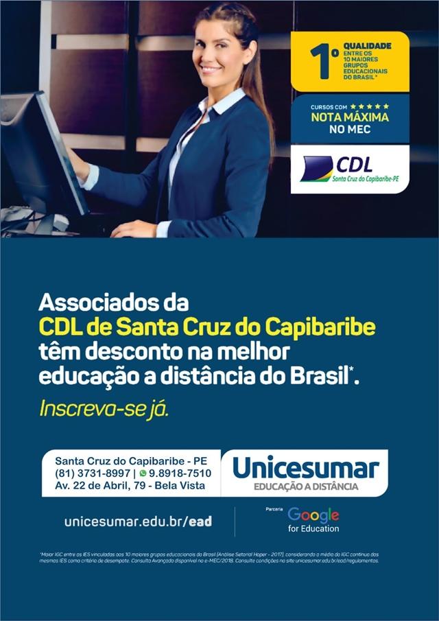 Parceria da CDL com a Unicesumar garante descontos aos associados