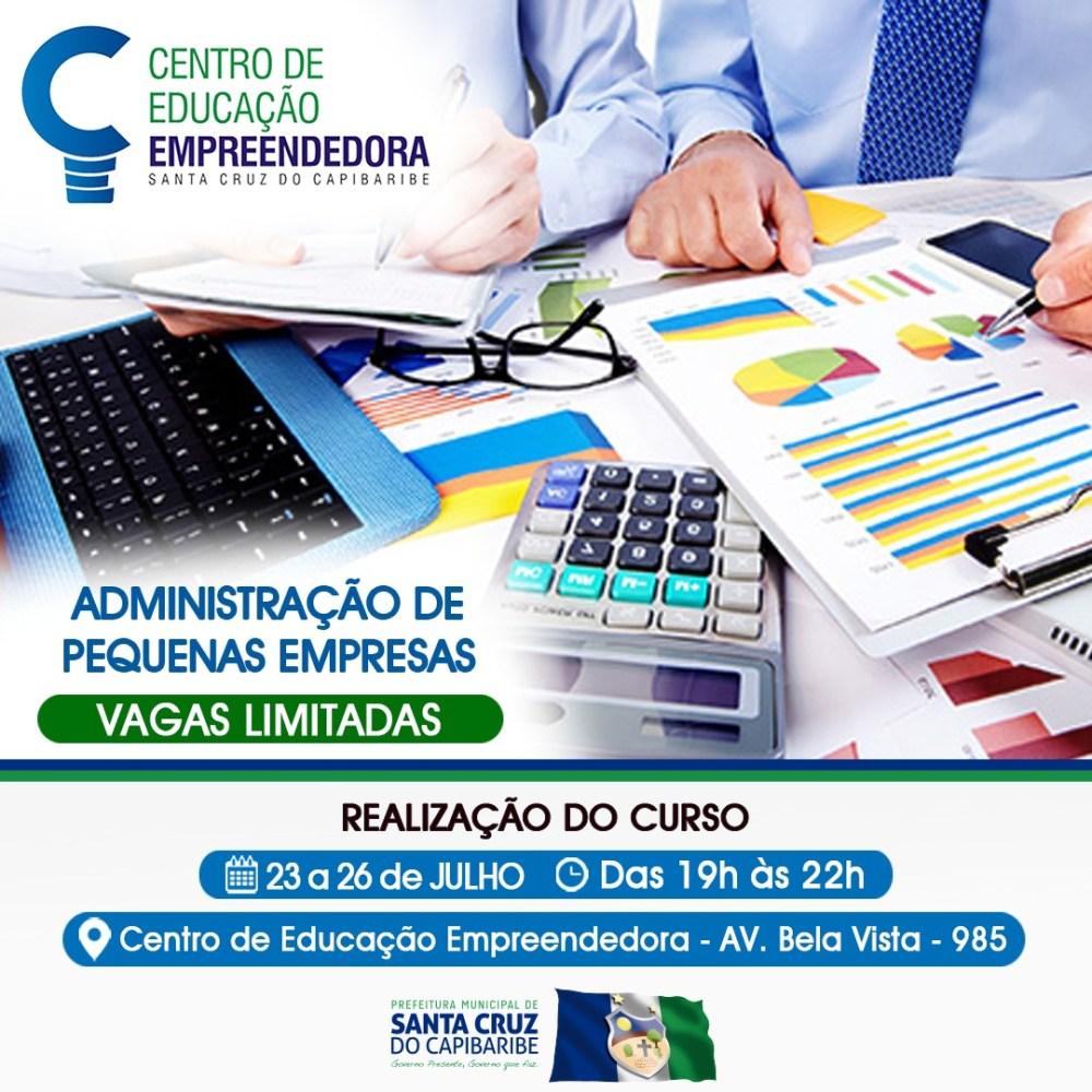 Inscrições abertas para cursos no Centro de Educação Empreendedora em Santa Cruz do Capibaribe