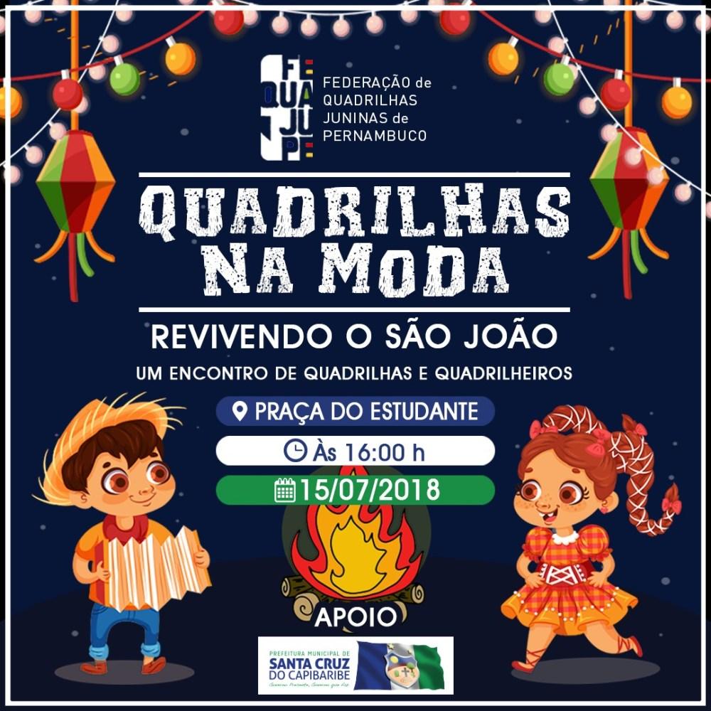 Santa Cruz do Capibaribe sediará o encontro de Quadrilhas Juninas neste final de semana