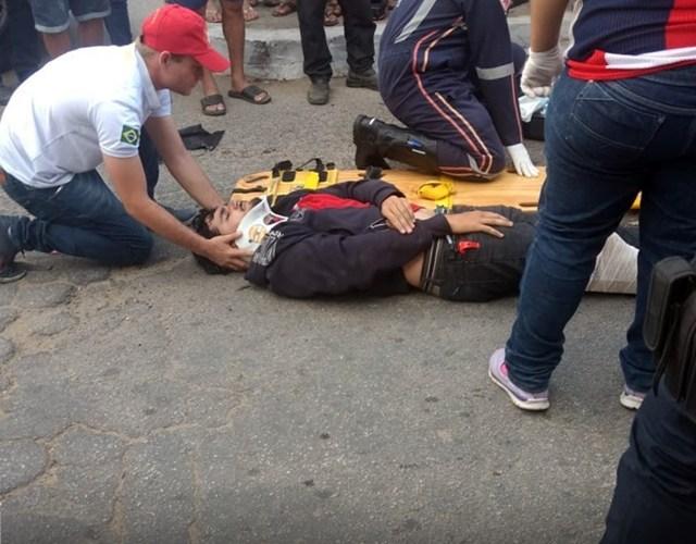 Acidente deixa homem ferido em Toritama