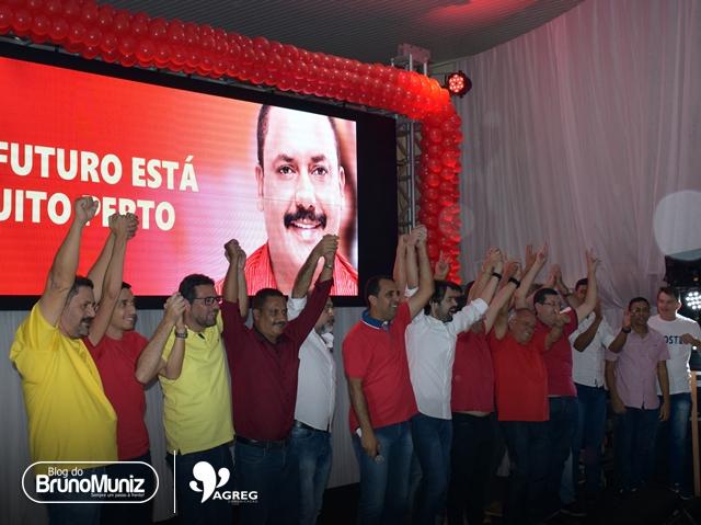 Em evento com presenças de Ernesto, Fernando, Carlinhos e Diogo Moraes, apenas Lóssio é citado como candidato a governador