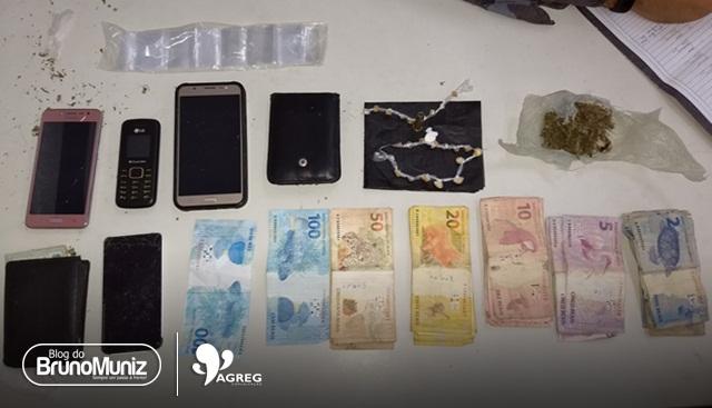 Casal é detido com drogas, munição e dinheiro em Santa Cruz do Capibaribe