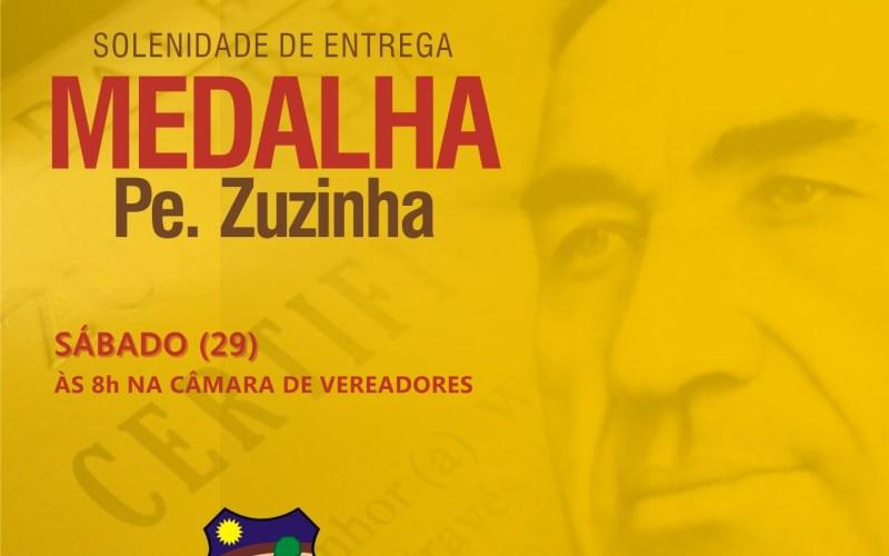 Câmara de Vereadores realizará entrega da Medalha Padre Zuzinha neste sábado (29)