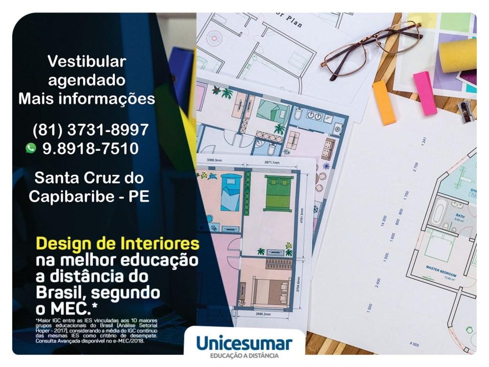 Unicesumar Santa Cruz oferece curso de Design de Interiores
