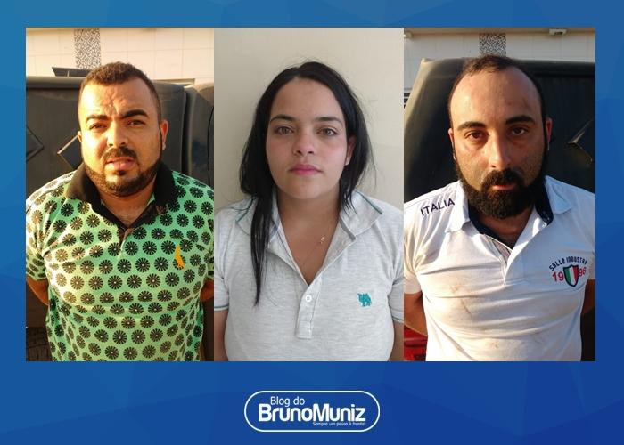 Três pessoas são detidas com duas motocicletas, várias placas e documentos de veículos em Santa Cruz do Capibaribe