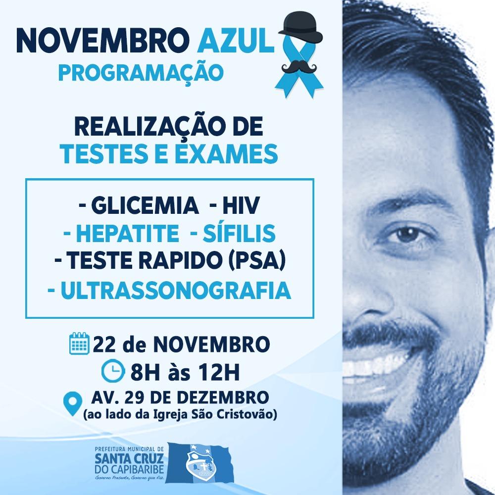 Secretaria de Saúde prepara ações em alusão ao Novembro Azul