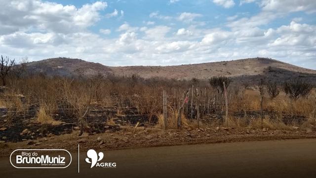 Incêndio de grande proporção é registrado na zona rural de Brejo da Madre de Deus