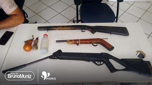 Elemento foge da polícia e deixa armas de fogo na zona rural de Brejo da Madre de Deus