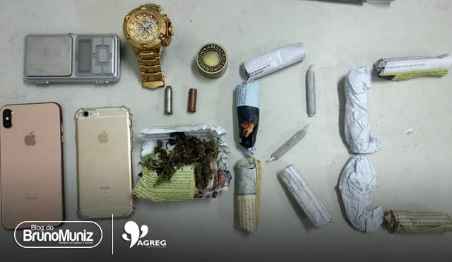 Suspeito de tráfico de drogas é preso no bairro São Miguel, em Santa Cruz