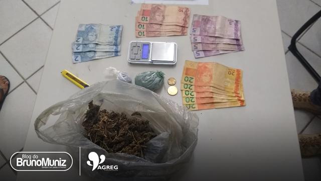 Três jovens são detidos com entorpecentes em São Domingos, distrito de Brejo da Madre de Deus