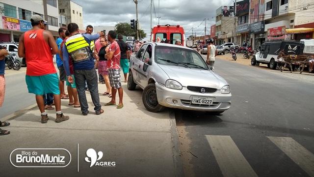 Acidente é registrado na PE-160 no perímetro urbano de Santa Cruz do Capibaribe