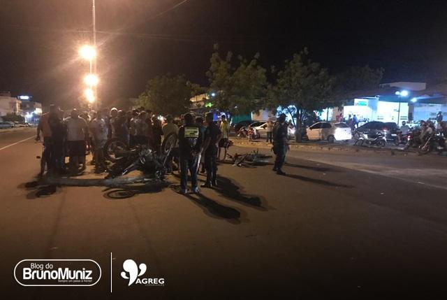 Colisão entre duas motocicletas é registrada em Santa Cruz do Capibaribe