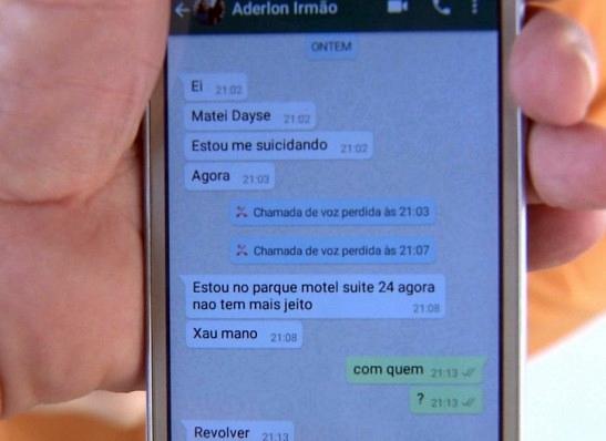 Homem que assassinou esposa em motel de Campina Grande mandou mensagens para irmão
