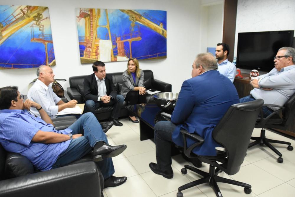 Alessandra Vieira se reúne com secretário estadual de Saúde, André Longo