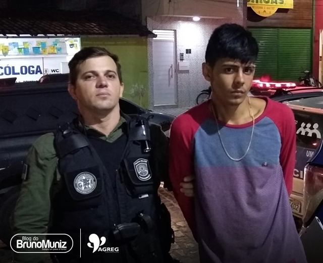Indivíduo é preso após assalto frustrado em fábrica de confecções