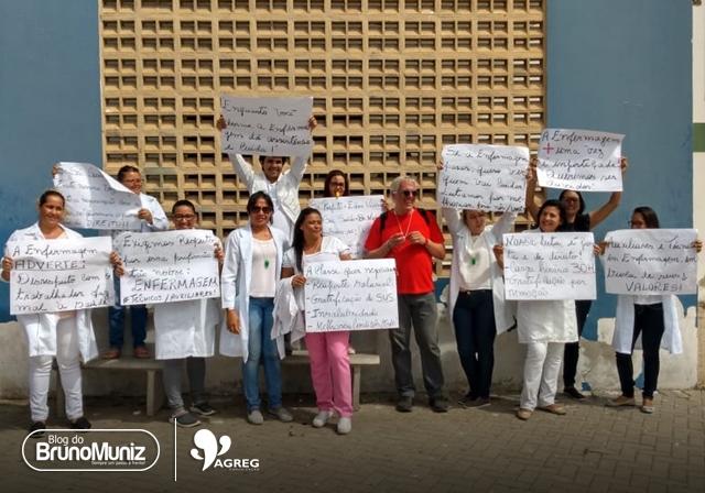 Auxiliares e técnicos de enfermagem de Santa Cruz do Capibaribe realizam paralisação