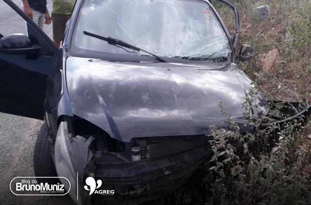 Homem fica ferido em acidente na rodovia PE-160, em Santa Cruz