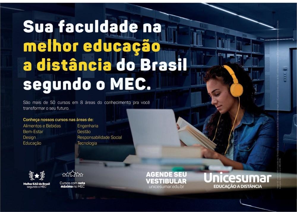 Unicesumar está com inscrições abertas para o Vestibular 2020